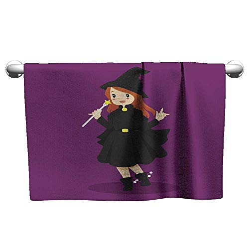 Absorbent Towel Halloween Witch Costume onsen Towel Quick Dry Towel 12 x 27 Inch -