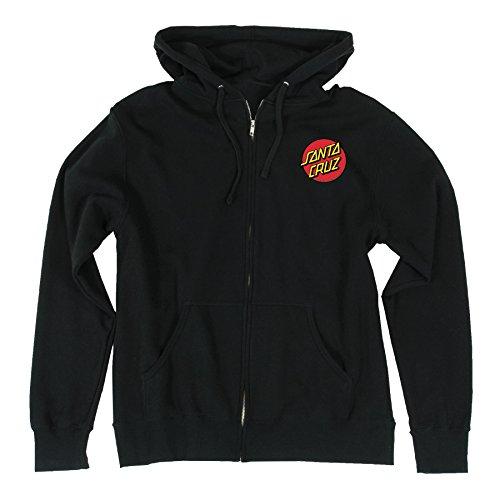 Santa Cruz Mens Classic Dot Hoody Zip Sweatshirt