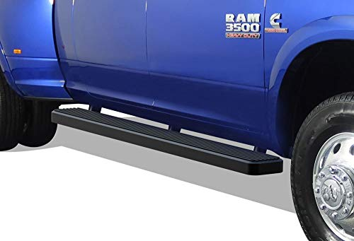 APS iBoard Running Boards 6 inches Matte Black Custom Fit 2010-2019 Ram 2500 3500 Mega Cab Pickup 4-Door (Nerf Bars Side Steps Side Bars)