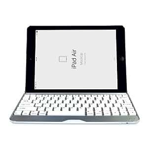iClover Ultrathin Slim Aluminum Wireless Bluetooth Keyboard Aluminu Cover Case for Apple ipad Air ipad 5 (White)