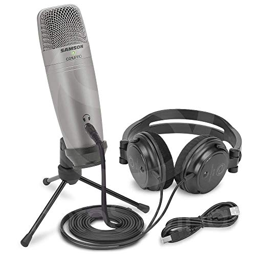 Samson C01U Pro Recording Pack with USB Studio Microphone, Headphones, and Software ()