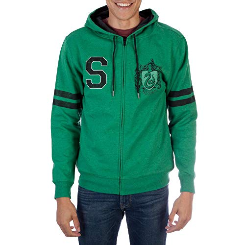 Harry Potter Slytherin Mens Zip-up Hoodie (Small) from Harry Potter