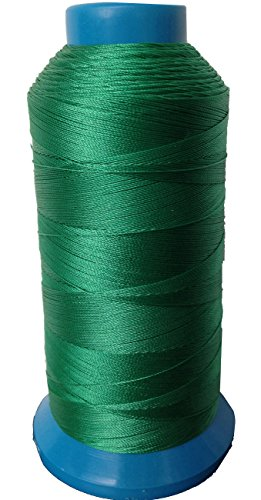 (Item4ever® Hunter Green Bonded Nylon Sewing Thread #69 T70 1500 Yard for Outdoor, Leather, Upholstery)