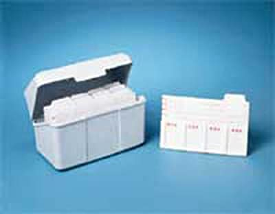 Index Card Slide Holders and plastic box () by Heathrow Scientific