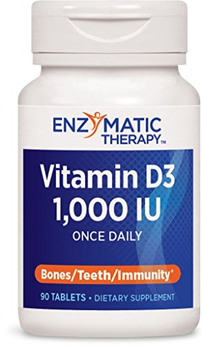 Enzymatic Therapy Vitamin D3 1000 LU Tablets, 90 Count