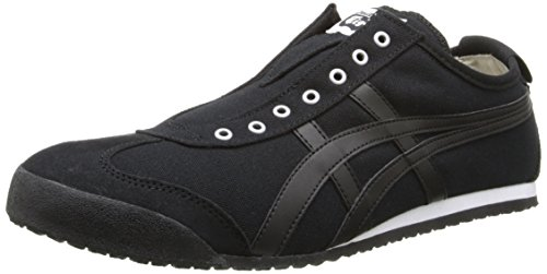 Onitsuka Tiger Mexico 66 Slip-On Classic Running Shoe, Black/Black, 12 M - Slip Black Classic On