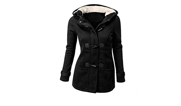 Amazon.com: Plus Coat Clothes Winter Long Hooded Casaco Feminino Camperas Mujer Abrigo,Black,S: Clothing