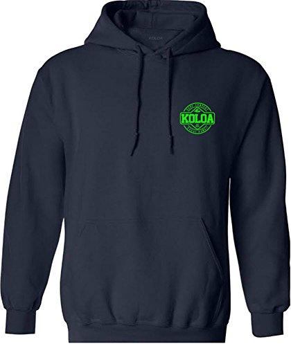 Koloa Dawn Patrol Logo Hoodie-Hooded Sweatshirt-Navy/Green-XL ()