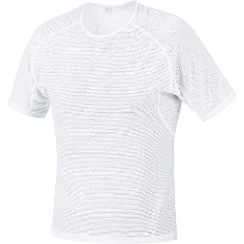 GORE BIKE WEAR Herren Unterzieh-Shirt, Kurzarm, Stretch, GORE Selected Fabrics, BASE LAYER Shirt, Größe: XXL, Weiß, USHIRT