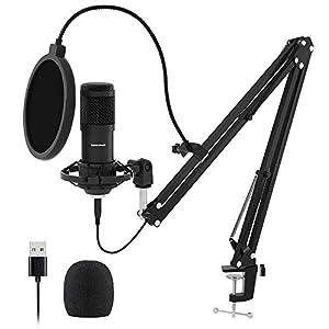 USB Streaming Podcast PC Microphone SUDOTACK professional 192KHZ24Bit Studio Cardioid Condenser Mic kit