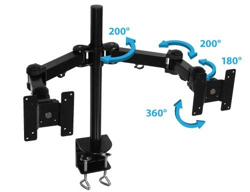 Sewell Dual LCD Monitor Mount, 360 degree rotation of screens! by Sewell
