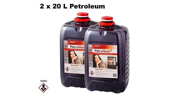 Petromax Heat Petróleo Paquete Doble (contenido: 2 x 20 l para estufa Horno Petróleo de Petróleo Calefacción: Amazon.es: Jardín