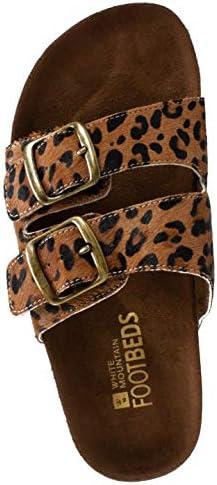 white mountain helga sandals leopard