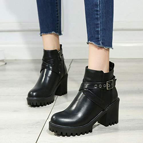 Boots Black Ankle Martin Women SJJH nI7p44