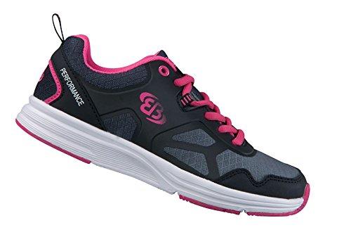 Bruetting Damen Scamper Multisport Indoor Schuhe Grau (Grau/Schwarz/Pink)
