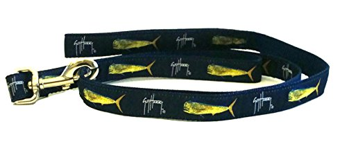 Guy Harvey Bull Dolphin - Guy Harvey Bull Dolphin Dog Leash-Navy