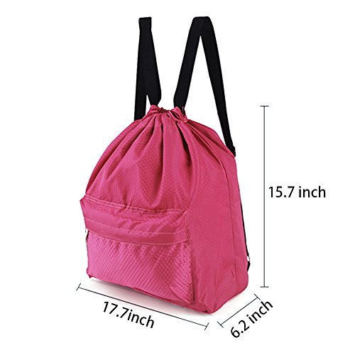 3fe84927af8e Zmart Dry Wet Separated Swimming Bag Portable Drawstring Backpack  Waterproof Gym Sports Pool Beach Gear Bag ...