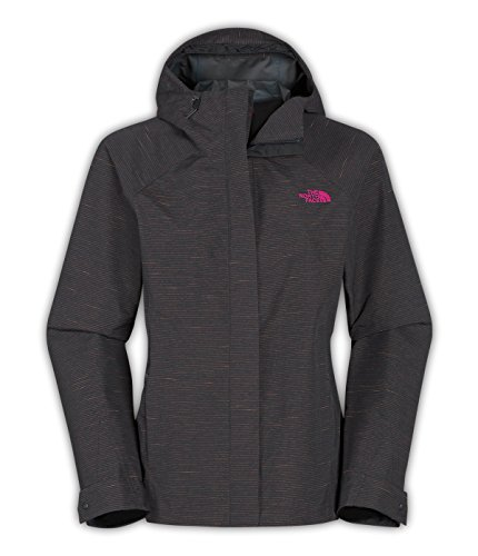 The North Face Novilty Venture Jacket Womens (Medium, Asphalt Grey Stripe) (Womens Face Venture North The Apparel Jacket)