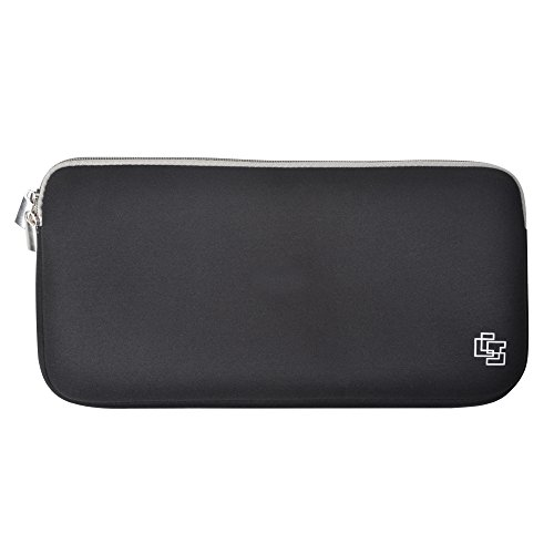 Case Star® Black Color Quality Neoprene Keyboard Sleeve Cas