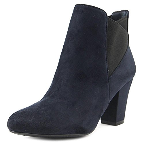 BCBGeneration Womens Dolan Suede Closed Toe Ankle Fashion, Navy/Black, Size 6.5