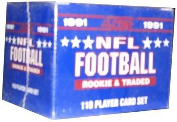 1991 Rookie Card (1991 Score Rookie & Traded Football Set - 110 Card Set)