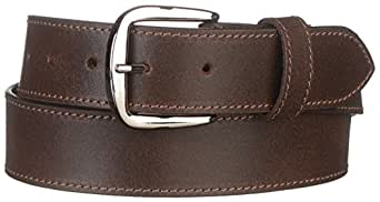 """Strait City Trading Co Men's 1-1/2"""" Leather Belt with Chrome Buckle 34"""" Brown"""