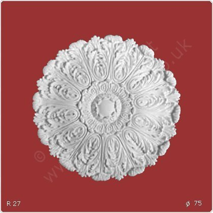 ORAC R27 Ceiling Rose Rosette Medallion Centre high quality polyurethane sharply defined white 75 cm = 29 inch diameter
