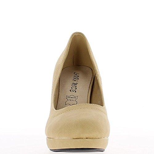 Mate de 10cm de camello mujeres zapatos tacones con plataforma