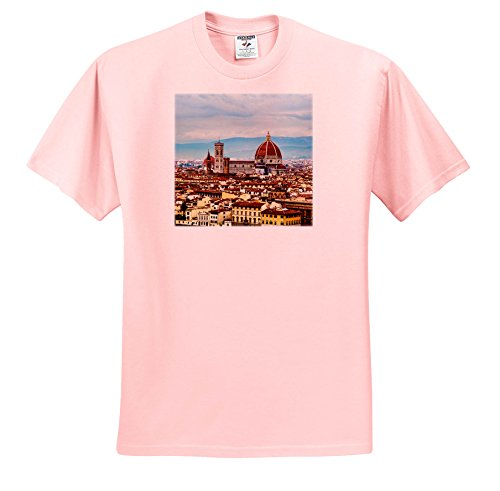 Danita Delimont - Cities - Italy, Florence, View Of The Dome, Florence - T-Shirts - Youth Light-Pink-T-Shirt Large(14-16) (TS_277599_46) (Florence 15 Light)