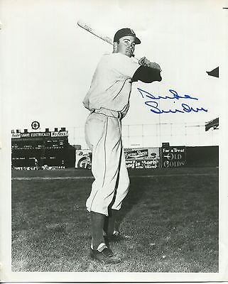 DUKE SNIDER HAND SIGNED 8x10 VINTAGE PHOTO+COA BROOKLYN DODGERS