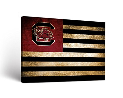 (Victory Tailgate South Carolina Gamecocks Canvas Wall Art Vintage Flag Design)