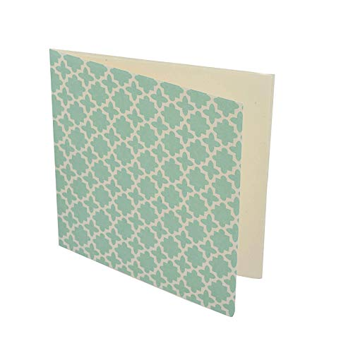 EAST Christmas Printed Gift/Greeting Card With Envelope Sea Green Square Shaped OPEP-7 ()