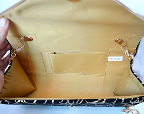 gold Evening Womens Messenger Handbag Bag Party Velvet Elegant Clutch Purse LABANCA Bag q1wPpBP