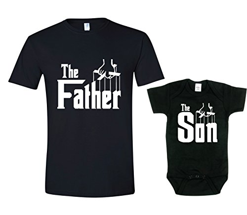 Texas Tees The Father T-shirt Matching Shirts for Dad and Son,The Father, the Son,Mens (Large) & 0-3 Month