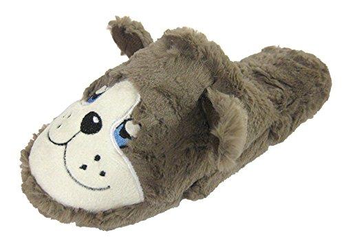 6 Slippers Dog Novelty Fluffy Grey Large Small 3 Clog 7 Per 5 Medium Rinfrescatori Mule 8 Signore 4 U0xRRO