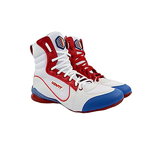 0ae4d3e06 85%OFF Uzafit Los Angeles Bodybuilding Weightlifting CrossFit Boxing Shoe  Unisex Sneaker White Red and