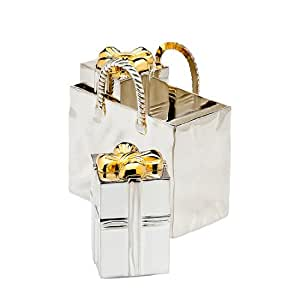 Shopping Bag With Presents - Salt and Pepper Shakers by Godinger