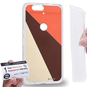 Case88 [Huawei Nexus 6P (2015)] Gel TPU Carcasa/Funda & Tarjeta de garantía - Art DayWear Colour Blocking