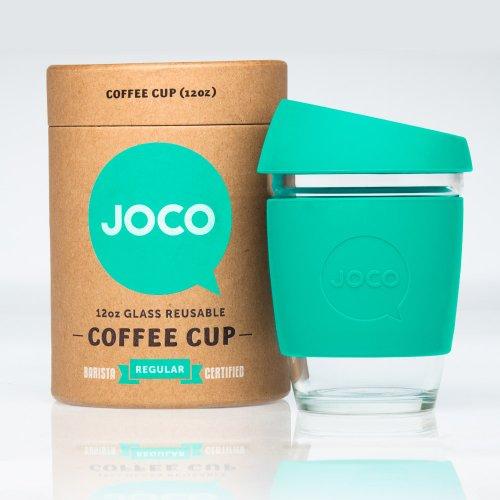JOCO Glass Reusable Coffee Cup 12oz (Mint)