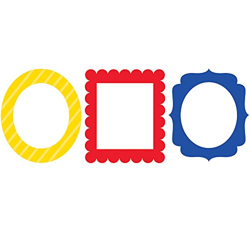 3-Piece Photo Prop Frames, Primary Colors (Birthday Party Decorations Hanging)