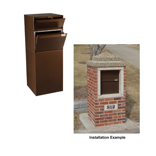 dVault® Full Service Vault DVCS0015 Secure Curbside Mailbox/Package Drop with Locking Letterbox (Copper Vein)