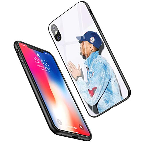 LiangChu 9H Tempered Glass iPhone 7/8 Cases, LC-122 Chris Brown Breezy Design Printing Shockproof Anti-Scratch Soft Silicone TPU Cover Phone Case for Apple iPhone 7/8