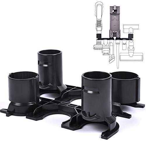 KEEPOW 2 Pack Accessory Holder Docking Station Fit Dyson V6 DC58 DC59 DC61 DC62 Cord-Free Vacuum Cleaner - Drawer Wall Mount Station
