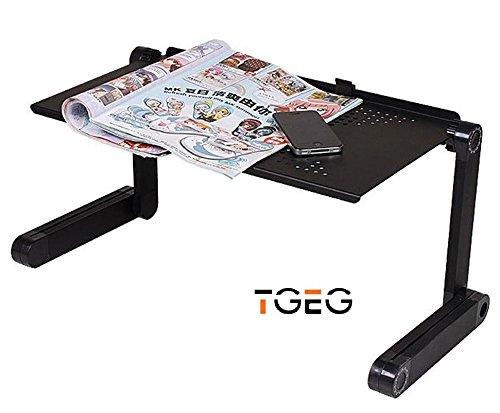 Portable Foldable Adjustable Ergonomic Laptop Table Desk Bed Tray Cooling Pad