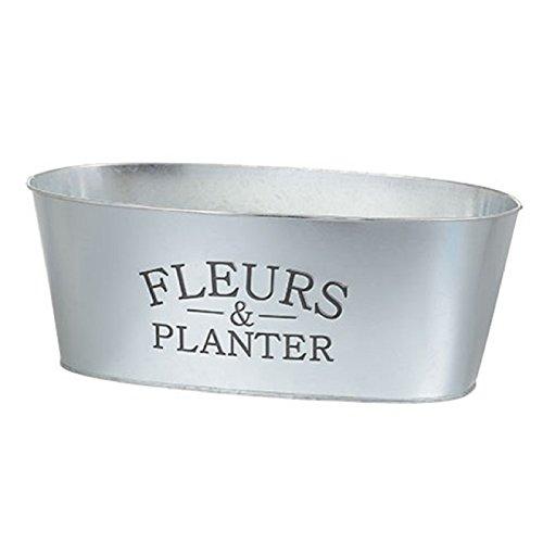 Fleurs & Planter Decorator Flower Garden Tin Planter 12 inch x 4.5 inch