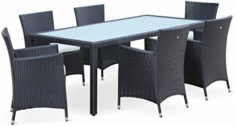 Alices Garden - Conjunto de Mesa y sillas de jardín, Ratán ...