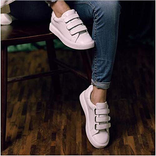 Round Plata Nappa Blanco Comfort de Toe ZHZNVX Spring Heel Sneakers Zapatos Leather Summer Mujer Flat Black Negro qHZTA