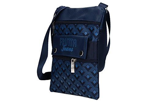 Bag Flat Men Belt Man Vf376 Shoulder Blue Pouch Frutta Bandolier IRUACqwC