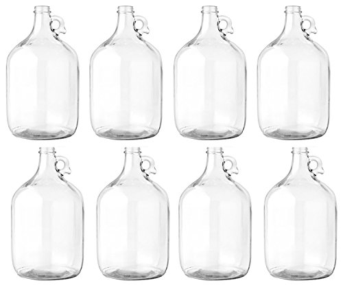 Glass Jug, 1 gal (Pack of 8)