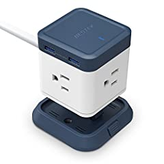 Don't you want a cool design USB power strip? BESTEK compact USB power strip comes with unique detachable base design,two surface mounting options(screw or adhesive),two ways of use(fixed or unfixed),it's all up to you! A MUST HAVE for your t...